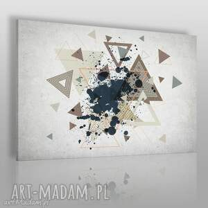 obraz na płótnie - trójkąty abstrakcja 120x80 cm 64801, trójkąty, nowoczesny