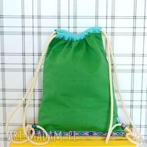 handmade plecaki worek aztec natural zielony