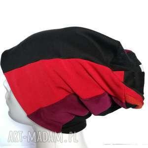 czapka patchworkowa ciepła damska uniwersalna, zimowa, ciepła, kolorowa, unisex