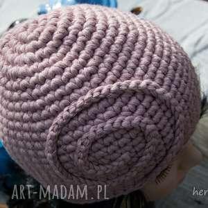 czapka handmade - czapka, wełna, zrobiona-na-szydełku, szydełkowa, ciepła