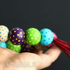 Polka Dot, kolorowa bransoletka, bransoletki, kropki, koraliki, kolorowe, tęczowe