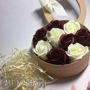 mira flowers93 box flowers with soap kwiaty z mydełka 9 roses, róże