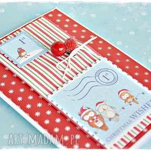 prezent pod choinkę Jarzębina - kartka na Boże Narodzenie, kartka, bożonarodzeniowa