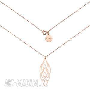 naszyjnik z różowego złota z rozetą - złote naszyjniki