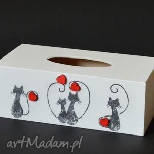Prezent Chustecznik - pudełko na chusteczki Love cats, chustecznik