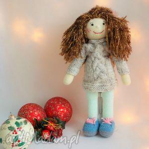 Prezent Szydełkowa lalka, szydełko, szmaciana, szyta, prezent, ręcznie