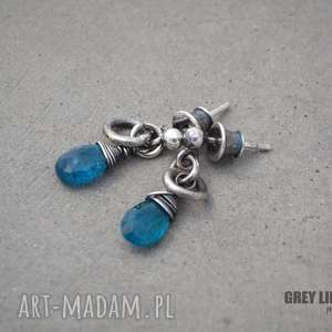 małe surowe z apatytem, srebro, surowe, apatyt, wkrętki, minerały