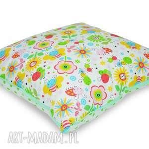 poduszka fairy meadow - poduszka, bawełniana, jasiek, kwiatki, popielewska, style