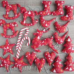 hand-made pomysł na upominek dekoracje choinkę zestaw 21 sztuk