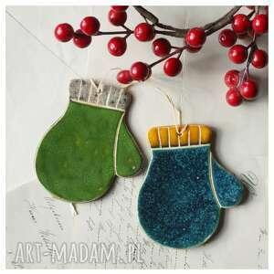 oryginalne prezenty, ceramika zestaw mikołajkowy xi, ceramika, rękawiczka