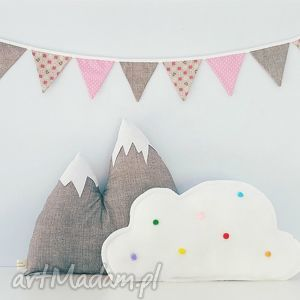 komplecik góra chmura girlandka - góra, chmura, girlandka, chmurka, szara, polarek