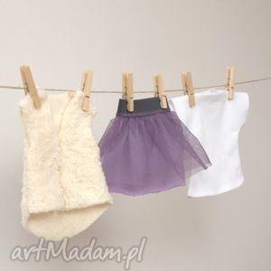 ubranka dla lalek - liliowa tutu, ubranka, lalki, tshirt, prezent dziecka