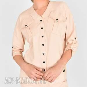 hand made bluzki koszula gaja bawełniana beżowa
