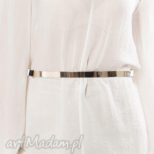 mirror belt - pasek, złoty, metalowy