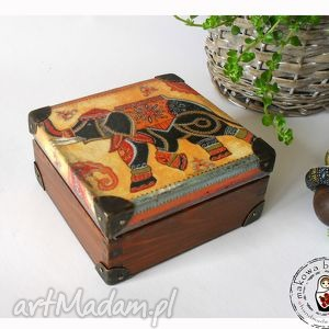 Indyjska kasetka boho pudełka makowa babuszka słoń, boho, indie,