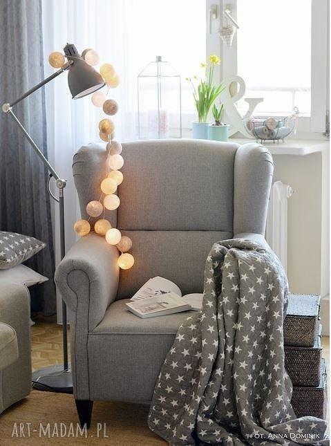 hand-made dla dziecka cotton ball lights by pretty pleasure