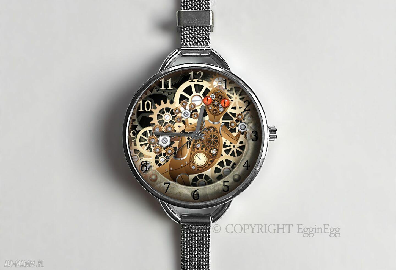 hand-made zegarki mechaniczna jaszczurka - zegarek z dużą tarczką 0957ws