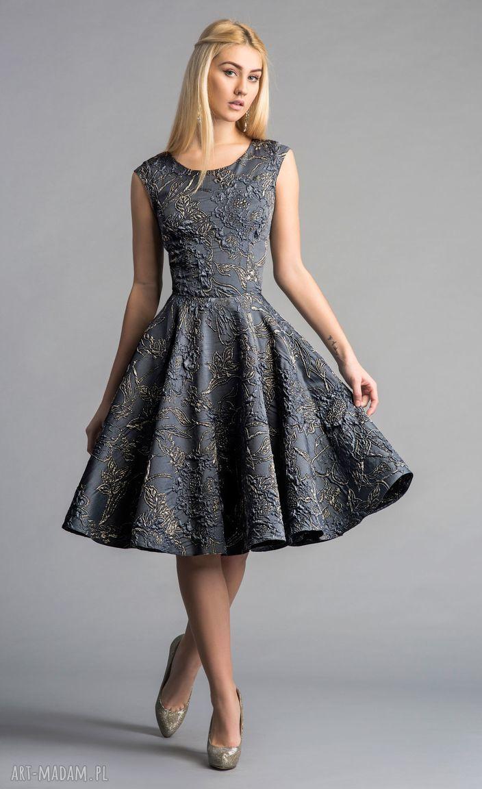 sukienki złota sukienka scarlett (koło) midi