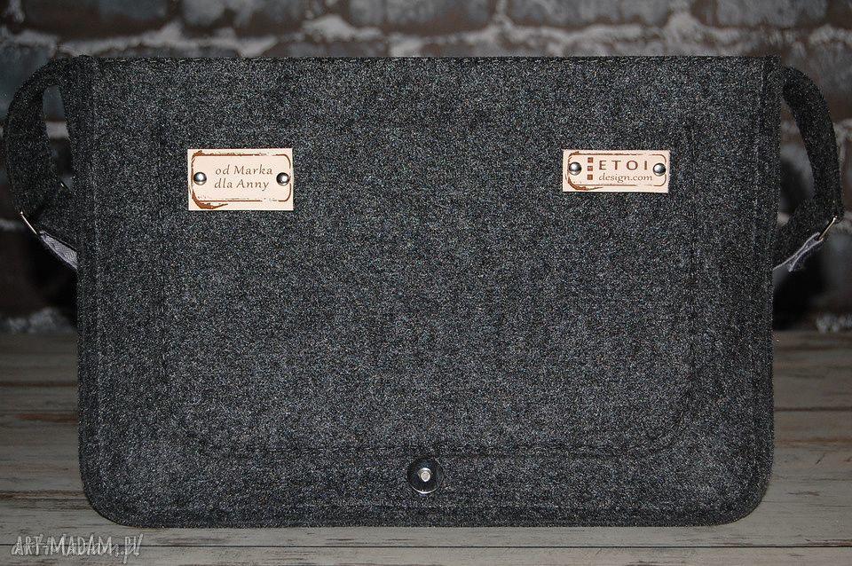 listonoszka na laptopa torba z filcu -