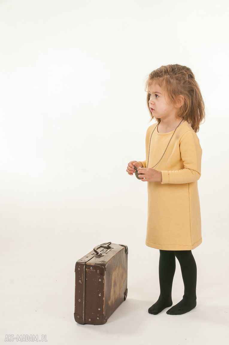 ręcznie zrobione ubranka musztardowy look
