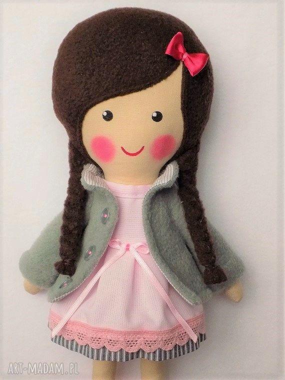 lalka lalki różowe malowana lala wiki z szalikiem