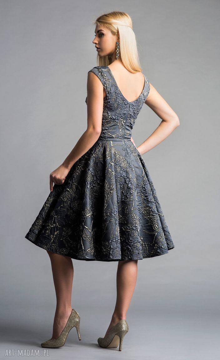 midi sukienki szare sukienka scarlett (koło)