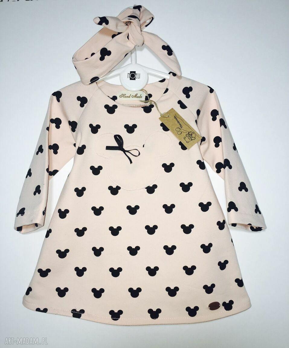 handmade ubranka sukieneczka myszki z opaską