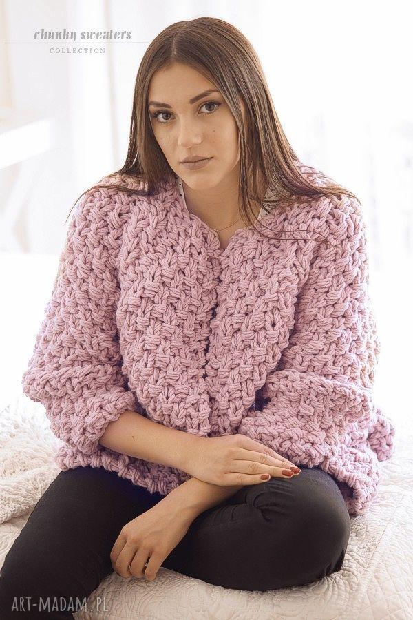 ręcznie robione swetry sweter heather chunky