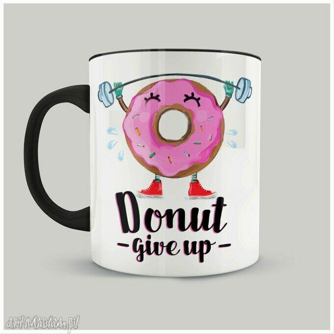 ręcznie robione kubki kubek donut give up
