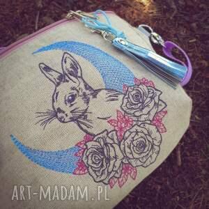 nerki nerka xxl mystic bunny, lniana nerka, z królikiem, króliczek