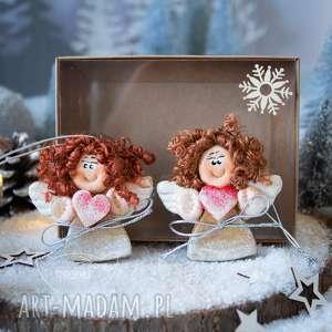 para świątecznych aniołków na zawieszce boże narodzenie, ozdoby choinkowe