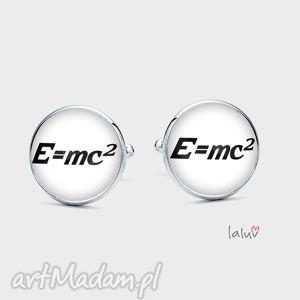 laluv spinki do mankietów e mc2, teoria, względności, einstein, fizyka, równanie