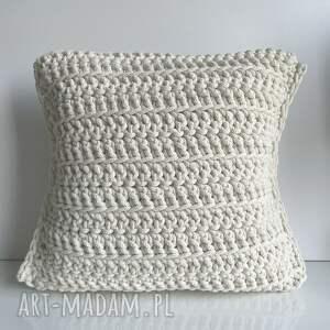 poduszka ze sznurka bawełnianego julia 40x40 cm 050 ecru, ozdobna