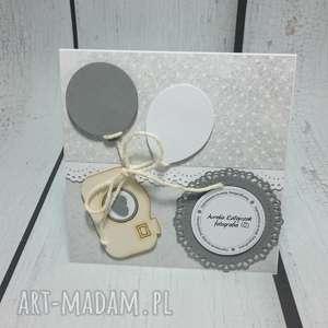 handmade scrapbooking kartki zaproszenie/ karta szary aparat