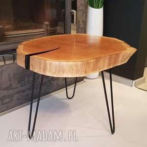 Stolik plaster drewna - dąb stoły sciete i pociete w-stylu