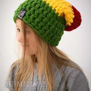 świąteczny prezent, rasta kids, czapka, reagge, zima, rasta, dziecięca, jamajka