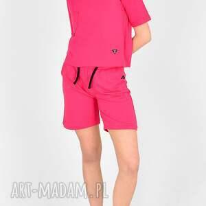 handmade sportowe komplet szorty bluzka celina fuksja