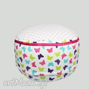 pokoik dziecka puf magic butterflies, puf, dla, dzieci, siedzisko, popielewska, style