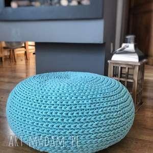 Poducha, siedzisko, płaski puf sitfuton mint knitting factory