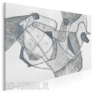 obraz na płótnie - abstrakcja kształty szary 120x80 cm 702301, dekoracja