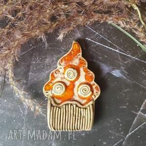 hand-made magnesy gorąca babeczka magnes ceramiczny