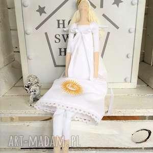 lalki anioł pamiątka pierwszej komunii Świętej, anioł, tilda, pamiątka, pierwszej, z