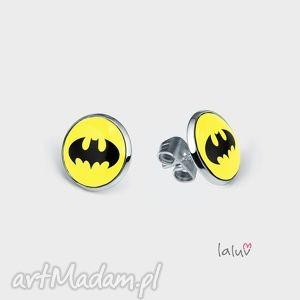 mini kolczyki sztyfty batman, prezent, superbohater, film, komiks, nietoperz, małe