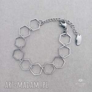 bransoletka milano silver, stal, nowoczesna, minimalistyczna, modna