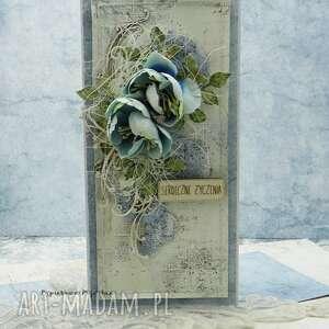 serdeczne życzenia - kartka w pudełku 5, imieniny, urodziny męska