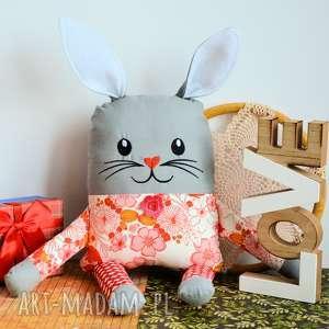 zakręcony królik - wiki zając, kwiatki, maskotka zabawka roczek