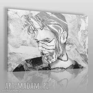 obrazy obraz na płótnie - mężczyzna szary 120x80 cm 65401, mężczyzna, chłopak