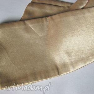 Złoty pasek z satyny dla czaderskiej dziewczyny paski ruda klara