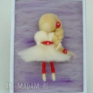 wróżka balerina tańcząca wśród lawendy obraz dekoracyjny