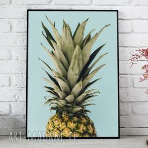 plakat a3 - ananas, plakat, plakaty, ozdoba, dom